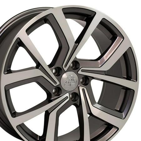 - 18x8 Wheel Fits Volkswagen - GTI Style Gunmetal Mach'd Rim - Offset 42mm - SET