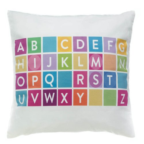 Zoomie Kids Hawkes Alphabet Decorative Throw Pillow
