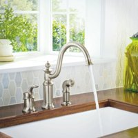 Moen S711SRS Waterhill High-Arc Kitchen Facuet with Side Spray, Available in Various Colors