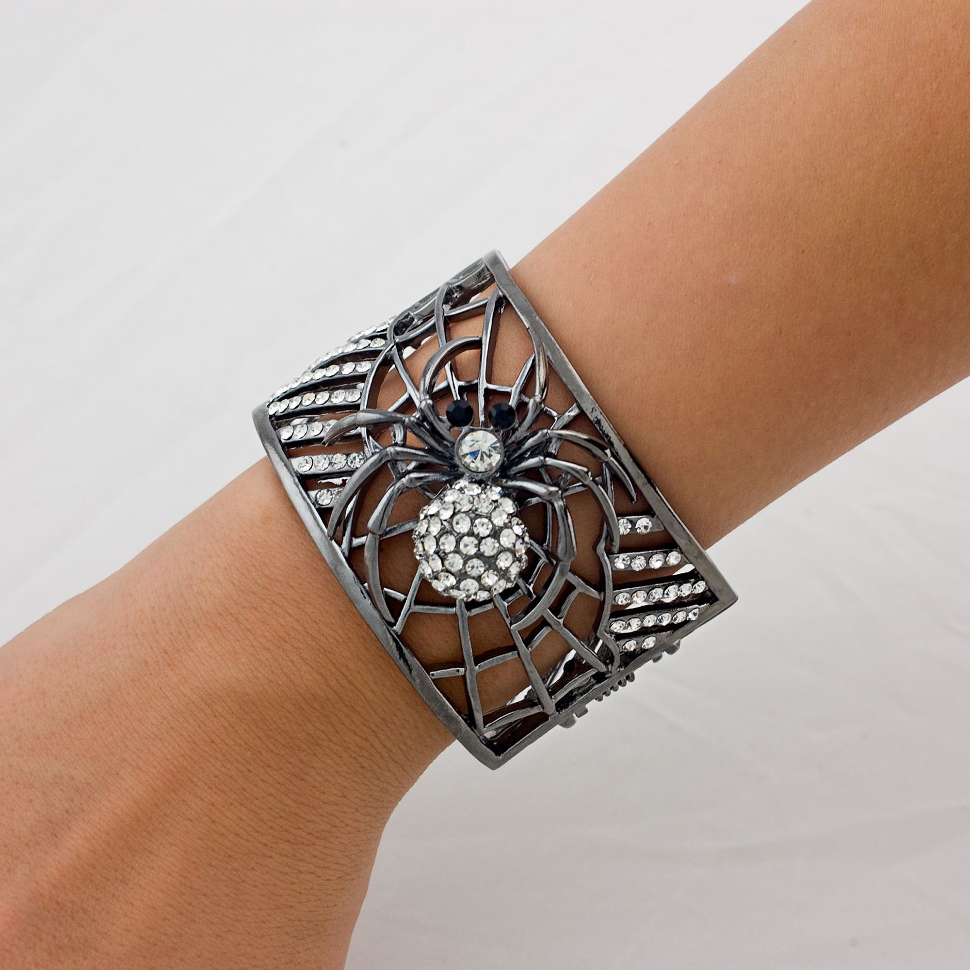 Sunnywood Rhinestone Spider Bracelet Adult Halloween Costume Accessory