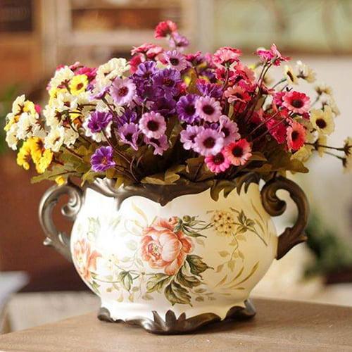 Moderna Artificial Chrysanthemum Cloth Daisy Home Pastoralism Decor 24 Flowers on 1 Piece