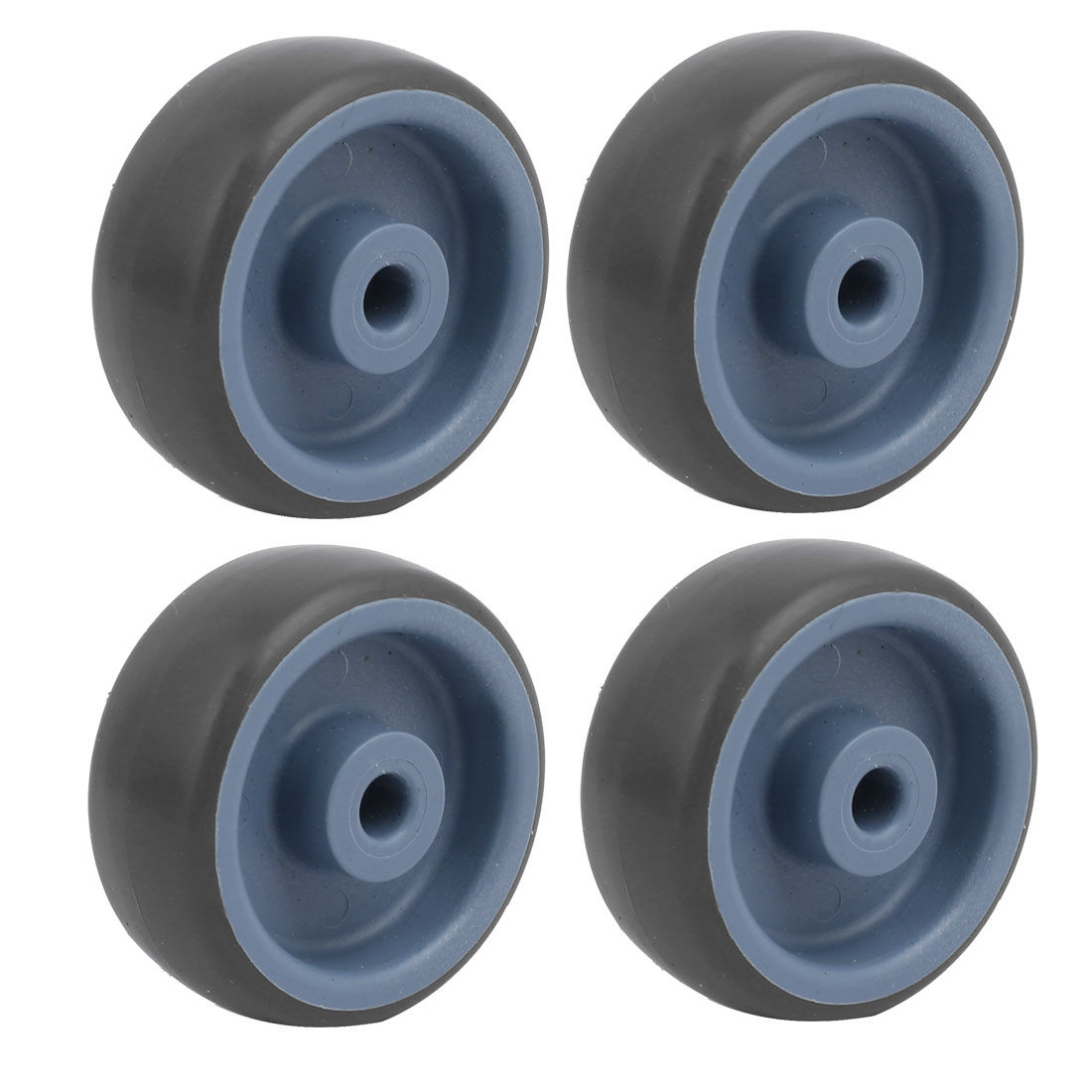Unique Bargains 2-inch Diameter TPR Wheel 6mm Bore Trolley Caster Pulley Roller 4pcs