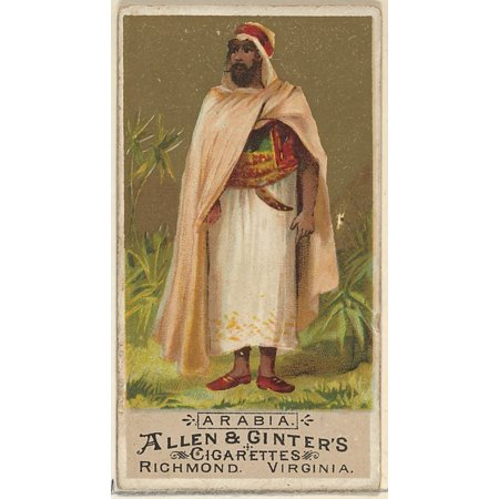 Arabia from the Natives in Costume series (N16) for Allen & Ginter Cigarettes Brands Poster Print (18 x 24)