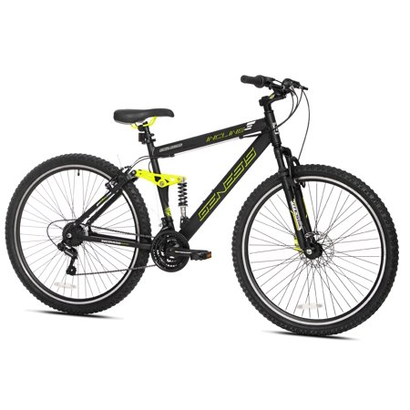 """Genesis 29"""" Mens, Incline Bicycle, Black/Yellow, For Height Sizes 6"""