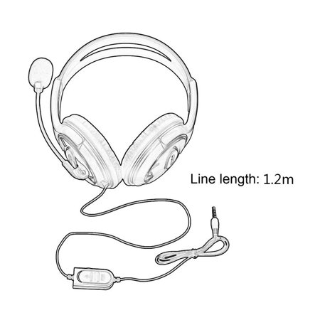 Wired Gaming Headset Headphones with Microphone for Sony