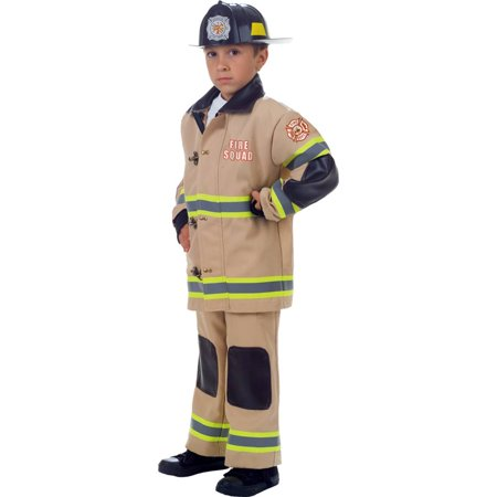 Fire Squad Firefighter Child Costume (Tan)