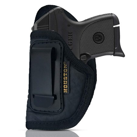 IWB Gun Holster by Houston - ECO LEATHER Concealed Carry Soft Material | Suede Interior for Maximum Protection | Fits: Most Small 380, Keltec, Ruger LCP, Diamond Back, Small 25 & 22 CAL