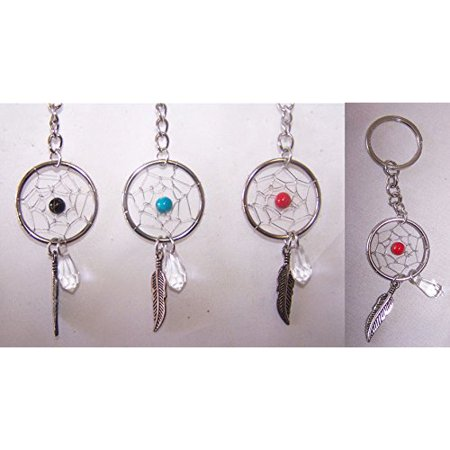 Brand New Hand Made Dream Catcher Key Rings Wholesale 12 Pc Pack (NpDc178-12  ZZ)