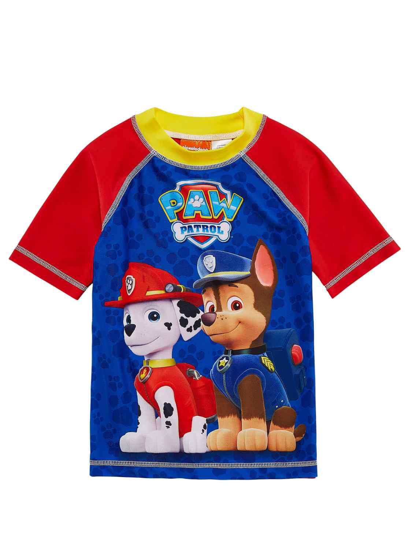 Paw Patrol Toddler & Boys Blue Puppy Dog Chase Rash Guard Swim Shirt
