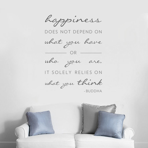 Wallums Wall Decor Happiness Does Not Depend On Wall Decal