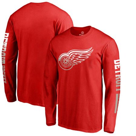 Detroit Red Wings Fanatics Branded Gradient Logo Long Sleeve T-Shirt - Red