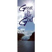 Banner-Winter-Great Is Our God (2' x 6') (Indoor)