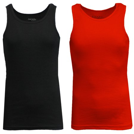 Mens Heavyweight Ribbed Tank Top (2-PACK)