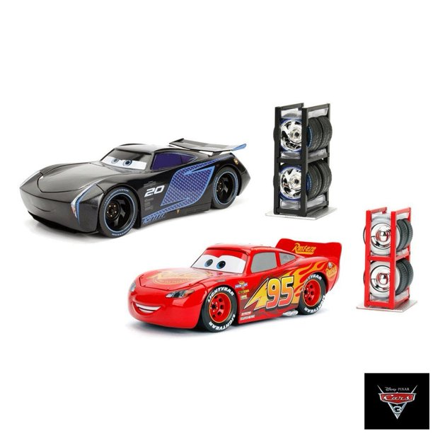 Disney Pixar Cars 3 Diecast Lightning Mcqueen Jackson Storm