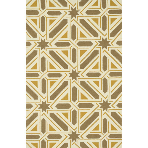 Dann Foley Palm Springs Taupe/Gold Indoor/Outdoor Area Rug