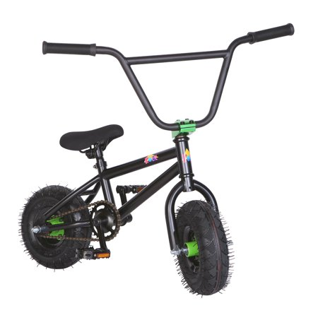 "KOBE Mini BMX Trick Bike - Off-Road to Skate Park, Freestyle, Trick, Stunt Bicycle 10"" Wheels for Adults and Kids - Green - image 1 de 12"
