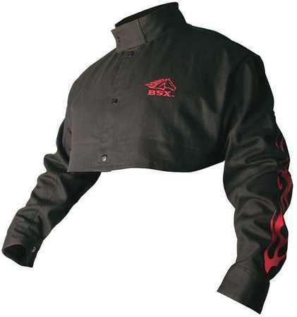 BSX BX21CS Welding Half Jacket, FR, Cotton, Black, 4XL