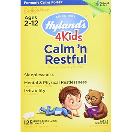 Hyland's 4 Kids Calm'n Restful 125 Tablets Homeopathic Sleep Aid for Kids