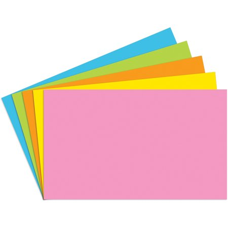 Blank Index (INDEX CARDS 3X5 BLANK 100 CT BRITE ASSORTED )