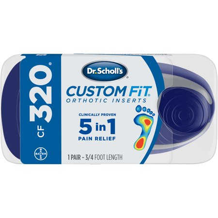 Dr. Scholl's Custom Fit CF320 Orthotic Shoe Inserts for Foot, Knee and Lower Back Relief, 1 - Custom Foot Orthotics