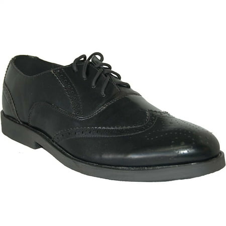 Over Black Leather - American Shoe Factory Wing Tip Black Leather Lined Upper Men Oxfords