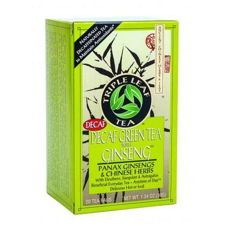 Triple Leaf Tea Green Tea With Ginseng - Decaffeinated - 20