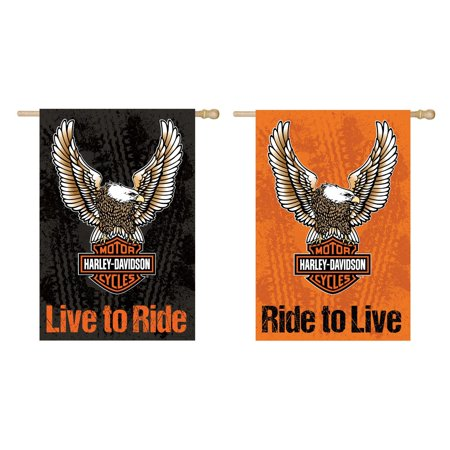 Harley-Davidson Double Sided Eagle House Flag ()