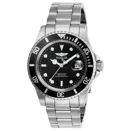 Men's 26970 Pro Diver Quartz 3 Hand Black Dial Watch ()