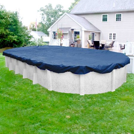 Pool Mate Commercial-Grade Rip-Shield Blue Winter Cover for Oval  Above-Ground Swimming Pools, 15 ft. x 30 ft. Oval Pool