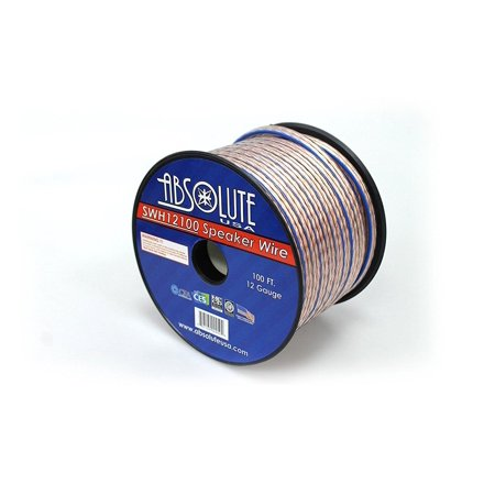 Absolute USA SWH12100 12 Gauge Car Home Audio Speaker Wire Cable ...