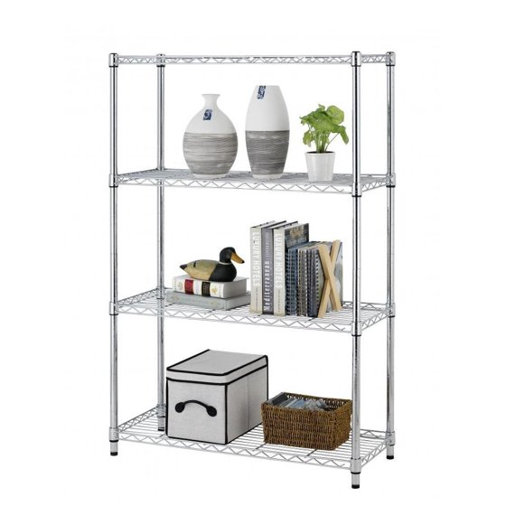"BestOffice 54"" 4 Tier Adjustable Steel Wire Metal Shelving Rack"