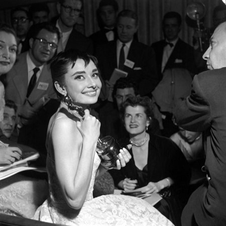 Audrey Hepburn, 1953. 26th Annual Academy Awards, Best Actress for Roman Holiday
