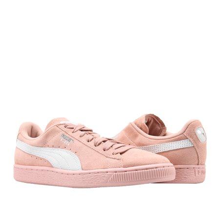 reputable site 0bf12 5f50b Puma Suede Classic Pink Peach Beige-White Women's Sneakers 35546267