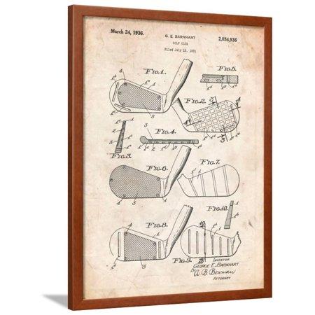Golf Club, Club Head Patent Framed Print Wall Art By Cole Borders ()