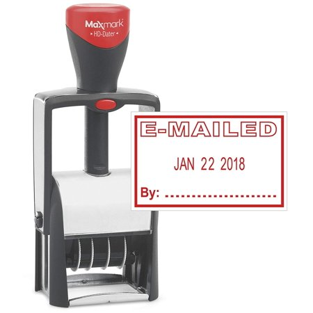 - Classix by xStamper Heavy Duty Date Stamp with EMAILED Self Inking Stamp - RED INK)