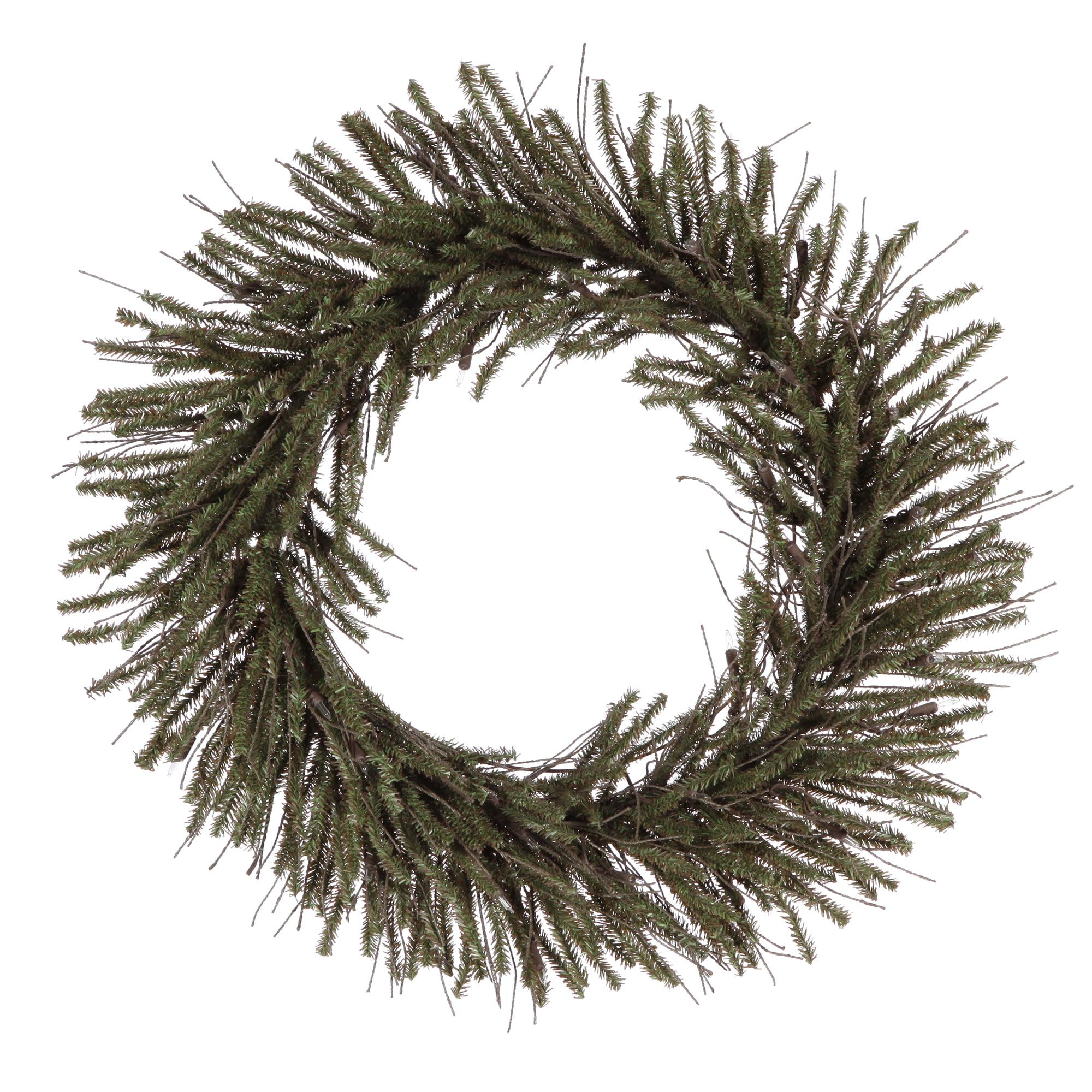 """Vickerman 20"""" Vienna Twig Wreath 240 Tips"""