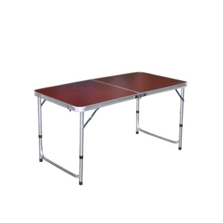 Kole Imports Ot058 4 Cherry Wood Look Folding Camping Table Pack Of 4