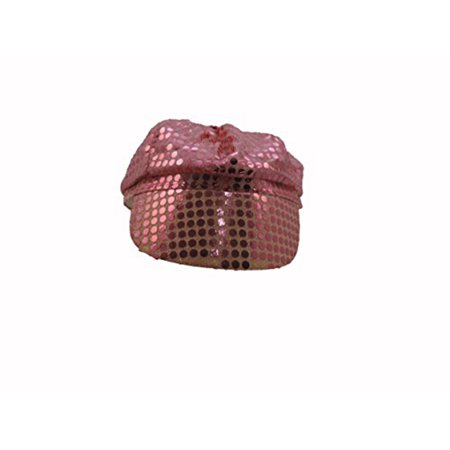 Windy City Novelty (Women's Pink Sequined Newsboy Cabbie Costume)
