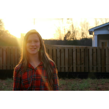 Canvas Print Outdoors Sunlight Smiles Hair Flannel Beautiful Stretched Canvas 10 x