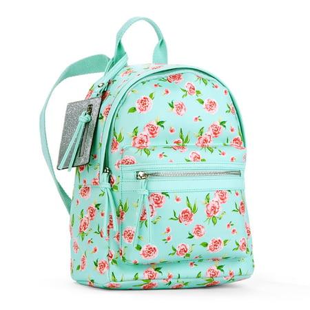 5f6d9225e444 No Boundaries - Mint Floral Mini Dome Backpack - Walmart.com