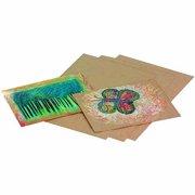 "School Smart Extra Heavy Weight Kraft Paper Sheet, 60 lb, 9"" x 12"", Brown, Pack of 100"