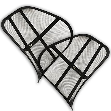 Zone Tech Set of 2 PosturePro Mesh Office Chair & Car Seat Lumbar Back Support