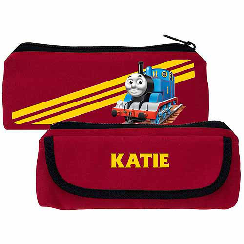 Personalized Thomas & Friends Retro Stripes Red Kids Pencil Case
