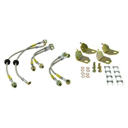 Goodridge Usa 12288 G Stop Ss Braided Brake Line Kit Fits 05 06 Gto