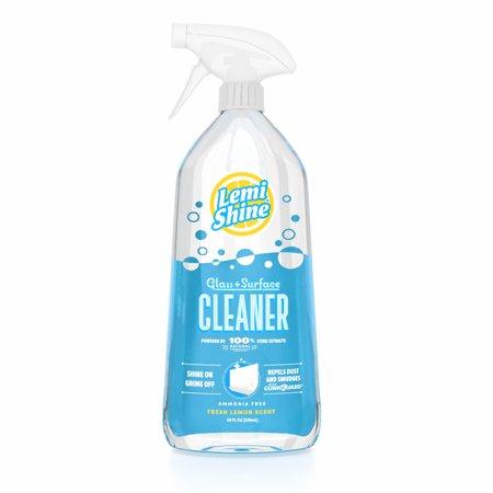 Lemi Shine Glass + Surface Cleaner, Natural Lemon Scent, 28 fl oz