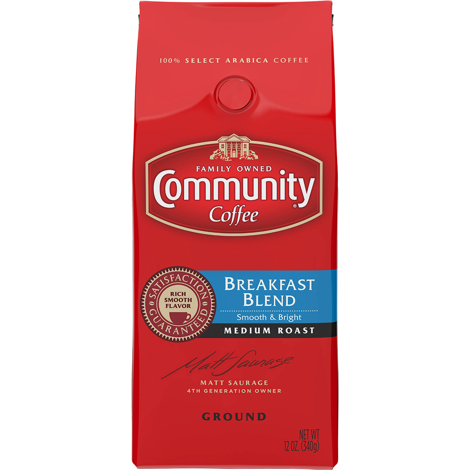 Community Coffee Ground Breakfast Blend 12 Oz