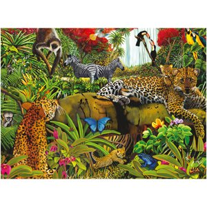Ravensburger Wild Jungle Puzzle, 100 Pieces
