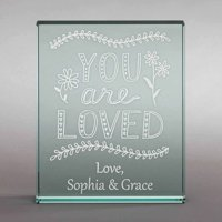 "Personalized You Are Loved 4"" x 5"" Keepsake"