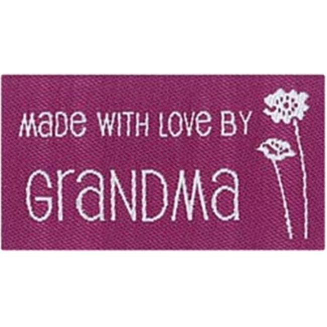 Blumenthal Lansing 103492 Iron-On Lovelabels 4-Pkg-Made With Love By Grandma