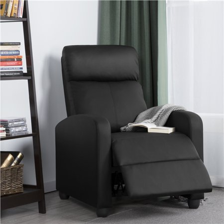 Yaheetech Single Faux Leather Recliner Chair Recliner Sofa Lazy Boy Sofa  Club Chair Home Theater Seating